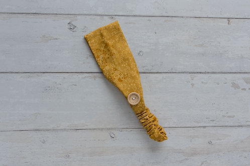Handmade cotton headbands with side buttons AUTUMN GOLD