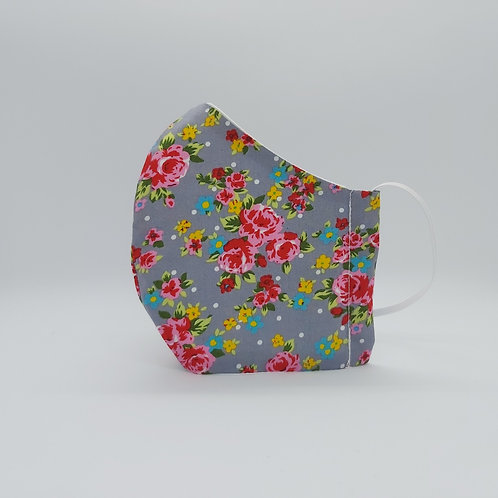 Reusable face mask HOT PINK ROSES, dust mask, fabric mask
