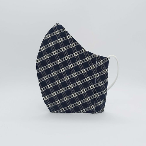 Reusable face mask Check black and white