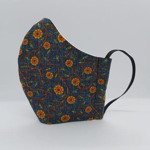 Reusable face mask SUNFLOWERS, dust mask, fabric mask,