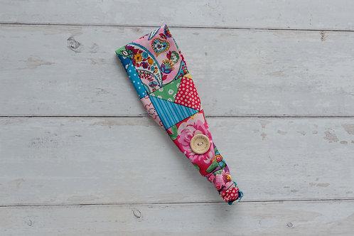 Handmade cotton headbands with side buttons PATCHWORK.jpg