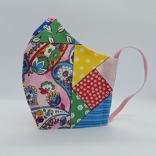 Reusable face mask Patchwork, dust mask, fabric mask