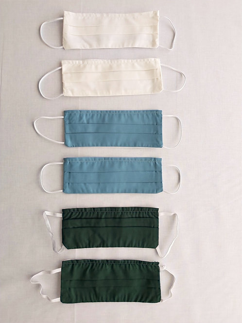 Pack of 6 reusable face mask CREAM, dust mask, fabric mask