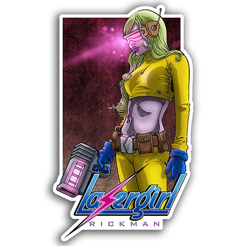 "LaserGirl 3"" Vinyl Sticker"