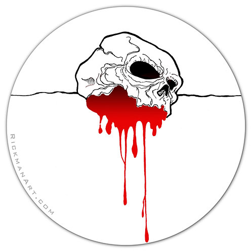 "Bleeding Skull 3"" Vinyl Sticker"