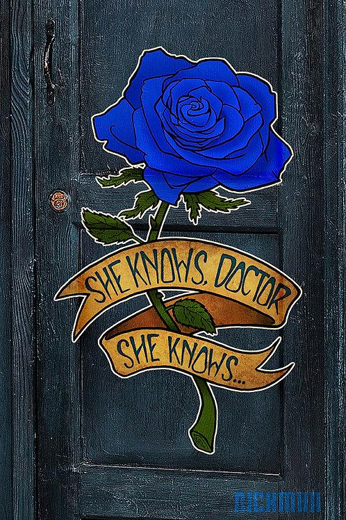 "Blue Rose 11"" x 17"" Print"