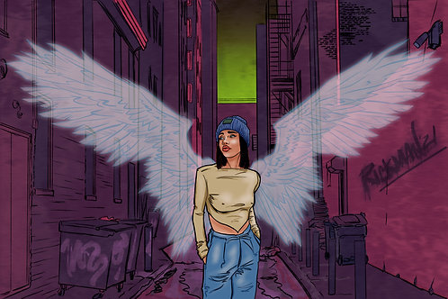 "Urban Angel 11"" x 17"" Print"