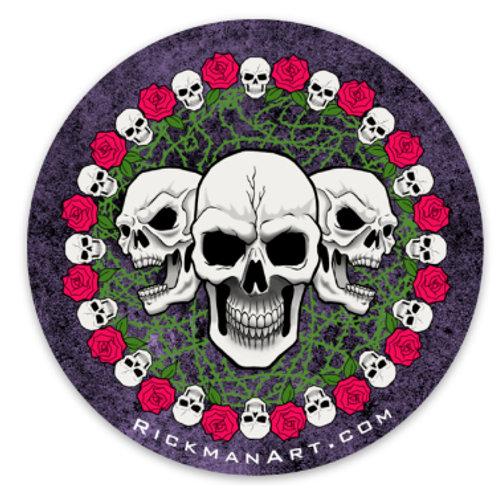 """Skulls N Roses 3"""" Vinyl Sticker"""