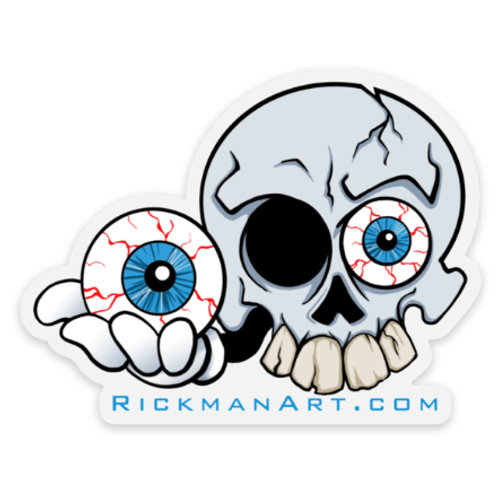 "Eye Skull 3"" Vinyl Sticker"