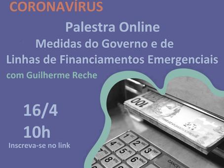 Palestra Online - Medidas do Governo e Linhas de Financiamentos Emergenciais