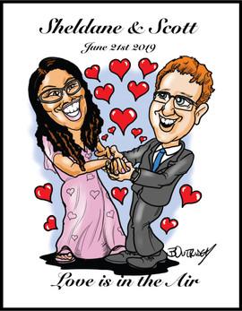 Sheldane & Scott Caricature