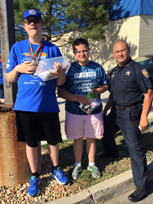 Special Olympics fundraiser at Culvers with Aurora IL Police Department