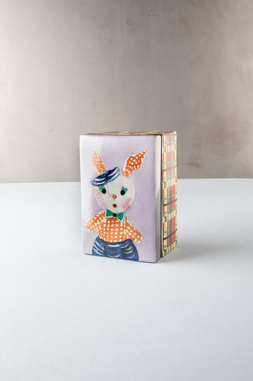 Scatola ceramica dipinta a mano. Illustrazioni by Nathalie Lété