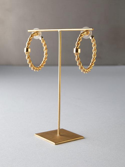 Orecchini cerchio intrecciati con inserto Vogue Bijoux Vintage