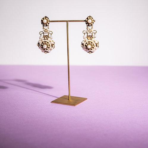 PARIS BIJOUX VINTAGE - Orecchini a clip con piccole perle