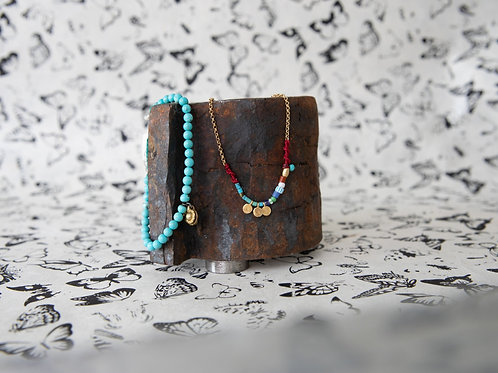 Bracciale turchese, pietre, argento/ RRegine