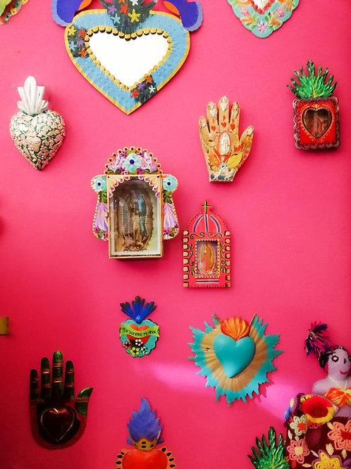 Pink Pampas - Ex Voto - Decorazione parete dipinta a mano