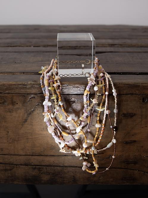 Collana fili di madreperla, perle di fiume, pietre dure /Nature Bijoux Pairs