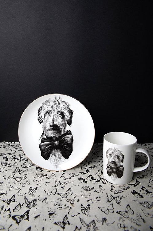 Dolly' Wirehair Dachshund Dog Plate and Marvellous Mug / Rory Dobner