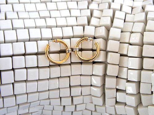 Orecchini cerchio con strass Vogue Bijoux Vintage