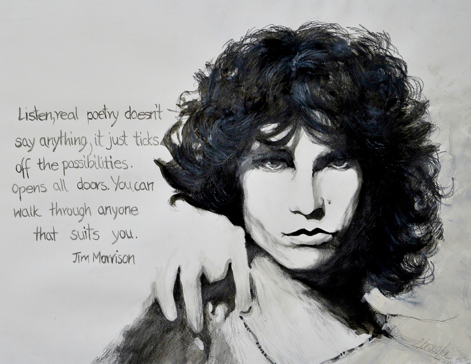 Jim Morrison withe Quote