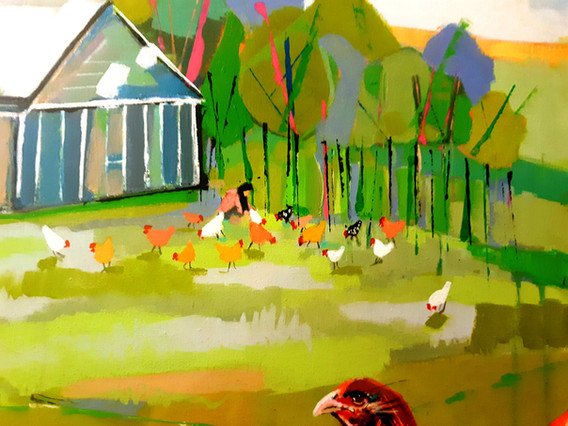 Serene Mountain Farm (Close up of canvas top)