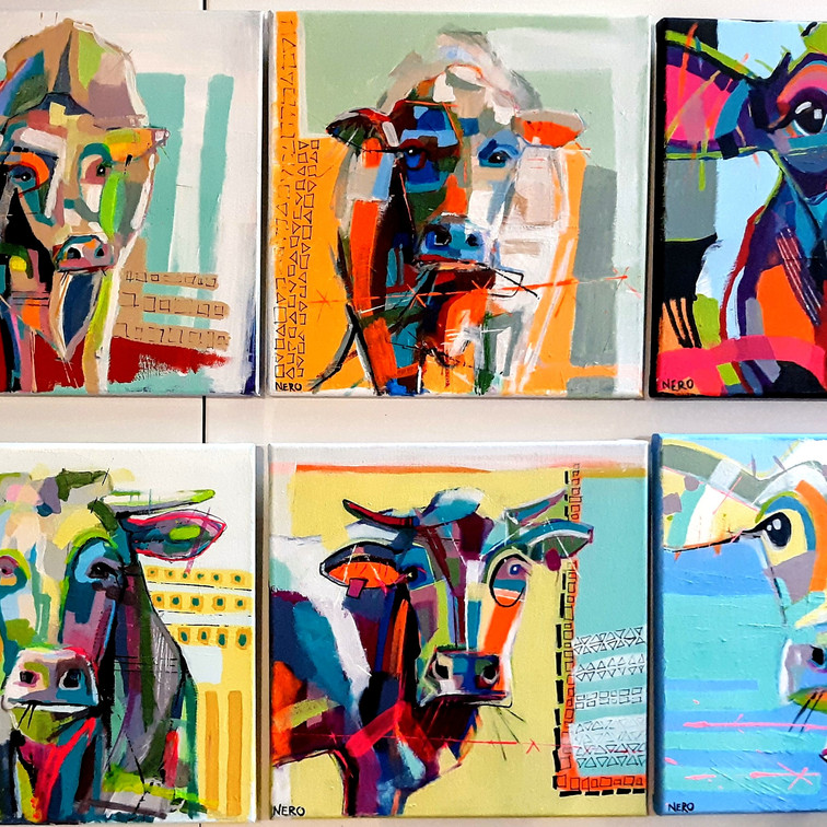 Cow Girl Series of 8