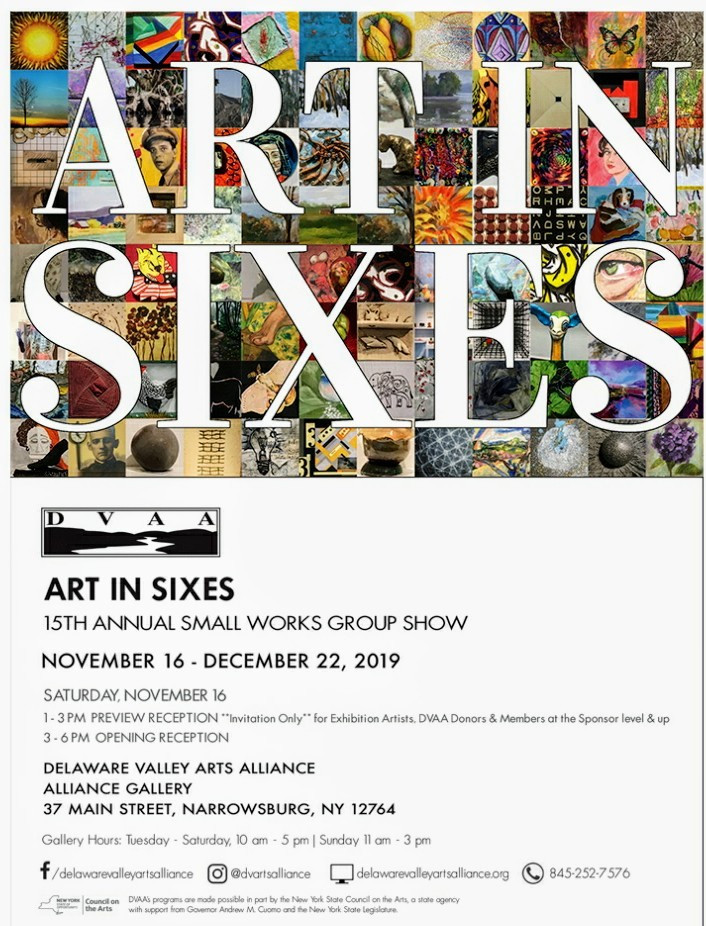 "15th Annual ""Art In Sixes"" Small Works Exhibition; Delaware Valley Arts Alliance (DVAA)"