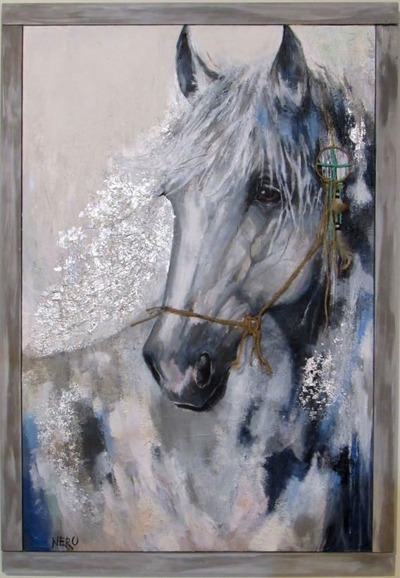 The White Stallion (with custom frame)