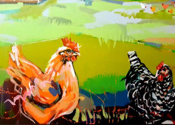 Serene Mountain Farm (close up canvas left)