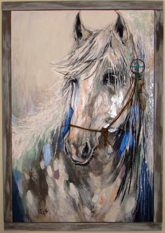 The White Stallion Returns (with custom frame)