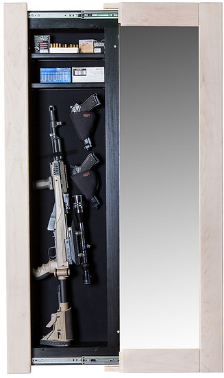 Hidden Reflections Full-Length Mirror With Hidden Gun Storage