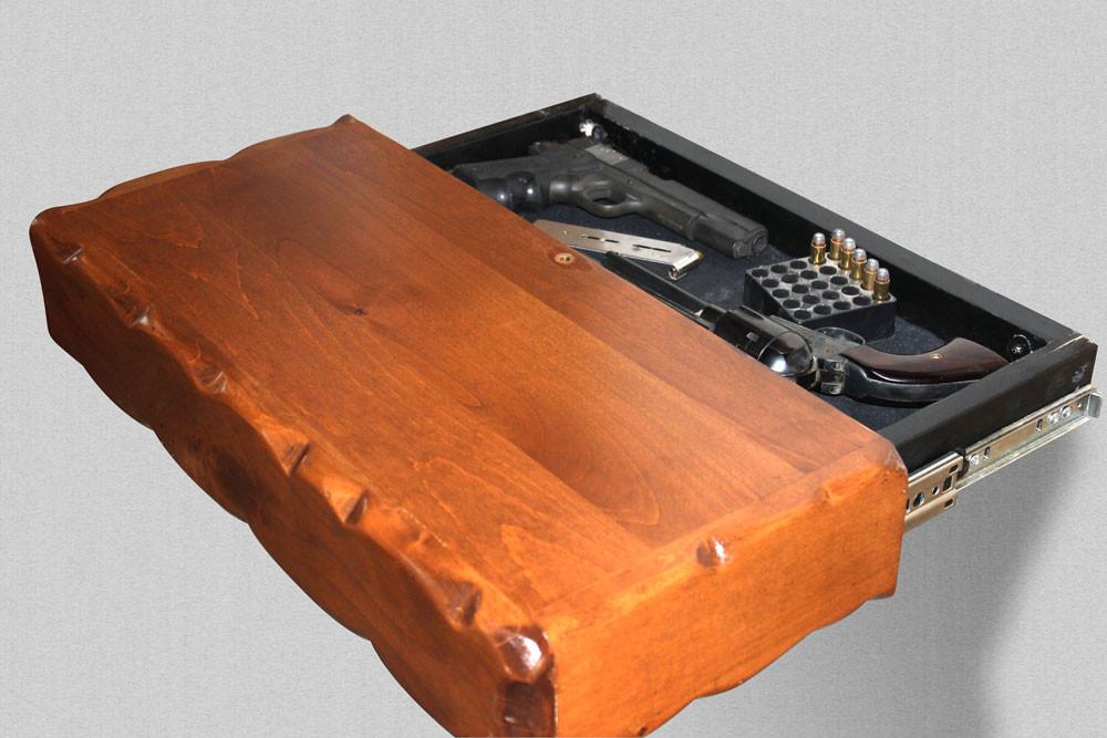 Hidden Gun Storage Floating Shelf