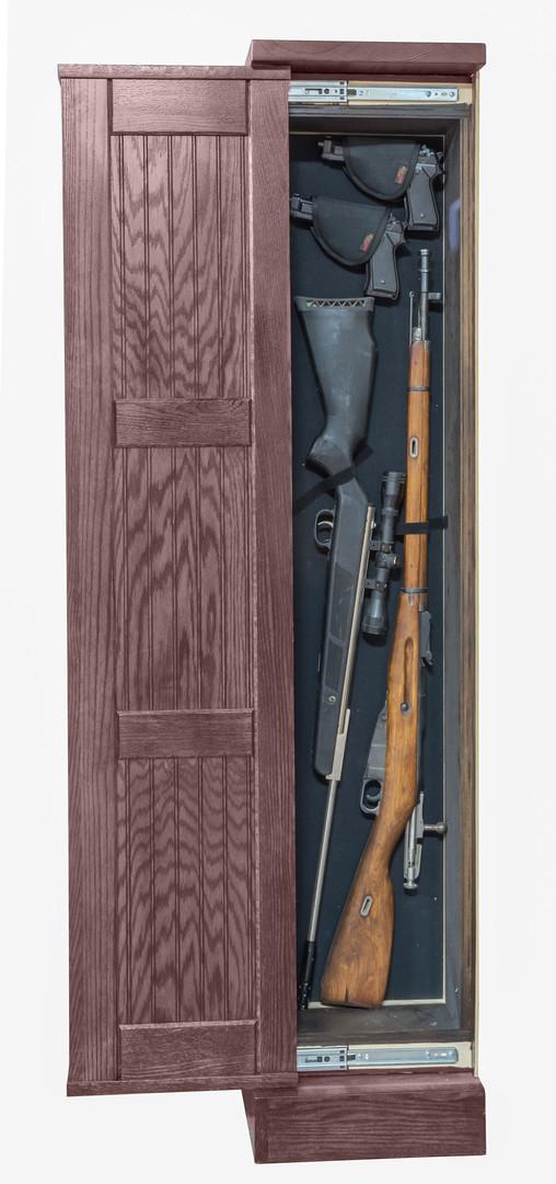 Hidden Gun Storage Bookcase Cherry - Side