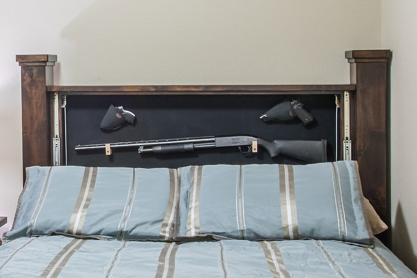 American Concealed Hidden Gun Headboard