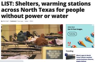 North Texas Warming Centers