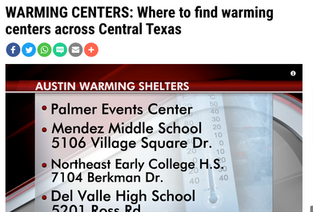 Central Texas Warming Centers
