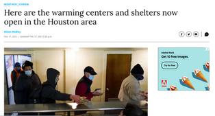 Houston Area Warming Centers