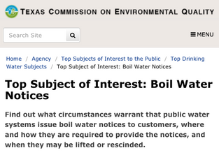 Texas Boil Water Notices