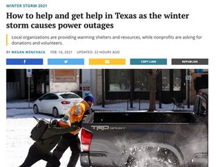 How to help and get help in Texas