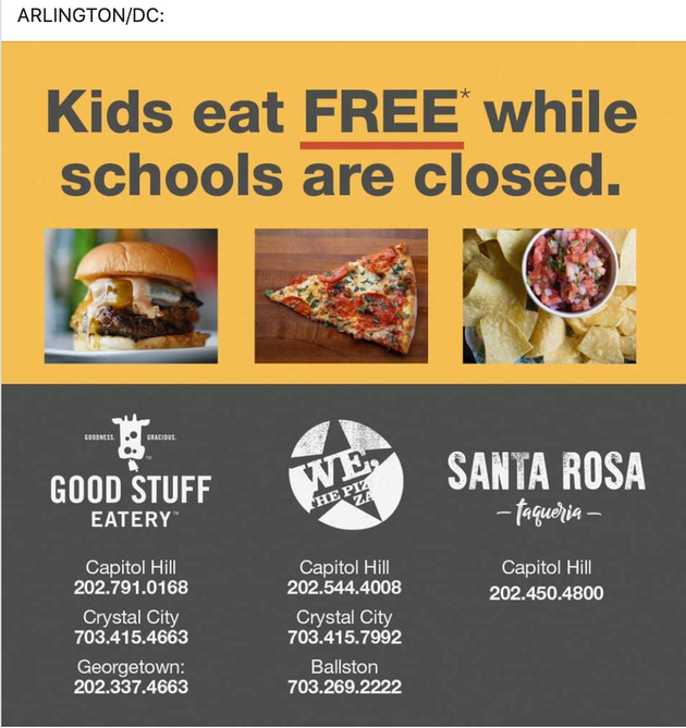 Kids Eat Free - Arlington/DC