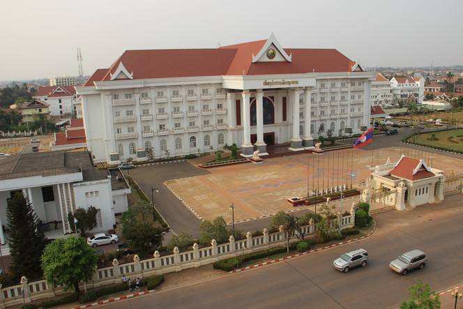 главное здание столицы Лаоса