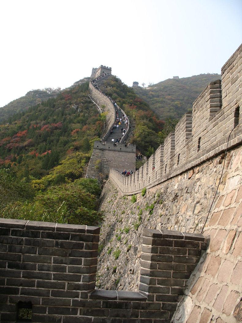 фрагмент Великой стены вблизи пекина