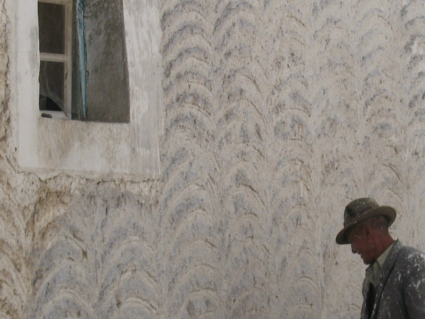 тибетский маляр за работой