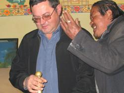 я и тибетский мужик