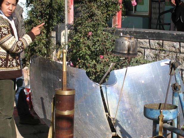 солнечный чайник в Лхасе