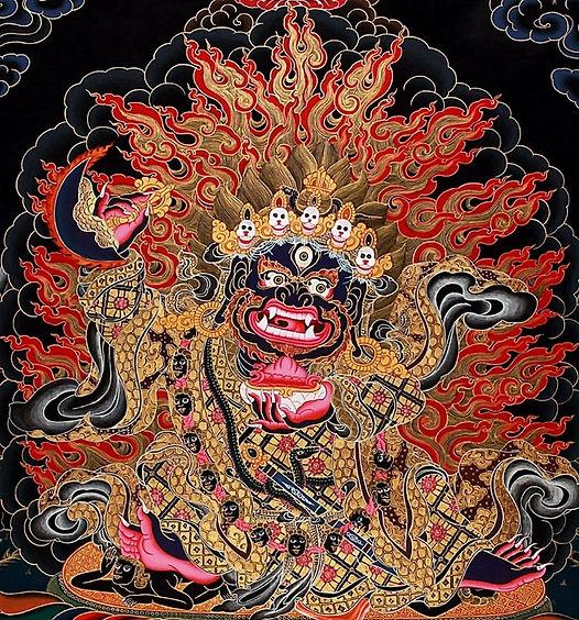 Типичный  тибетский демон