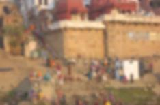 варанаси паломники на гхатах
