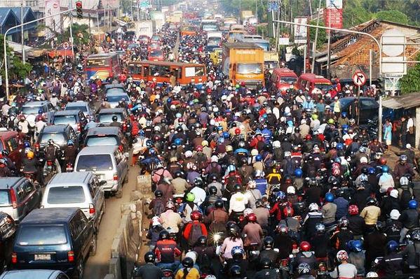 хаос на дорогах Бали