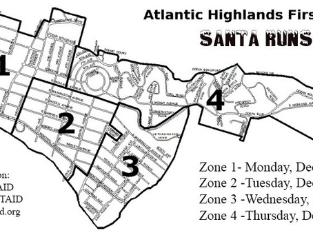 ATLANTIC HIGHLANDS FIRST AID & SAFETY SQUAD TO MARK 20THANNIVERSARY OF ANNUAL SANTA RUNS AND T